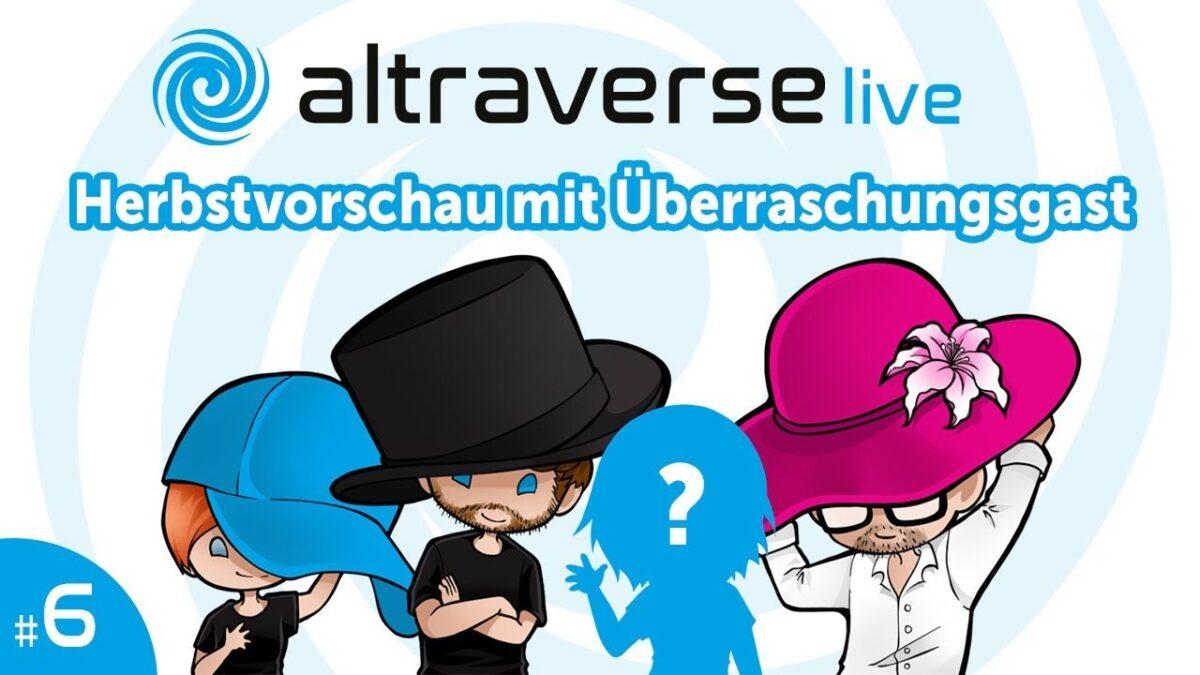 """Logo des 6. Altraverse Live-Streams """"Herbstvorschau mit Überraschungsgast"""""""