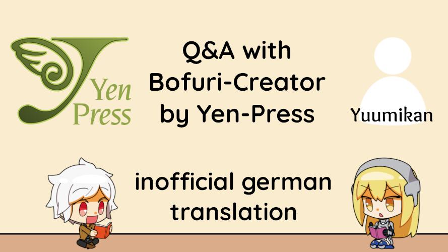 Titelbild zum Artikel Übersetzung: Q&A mit dem Autor der Bofuri Light Novels Yuumikan