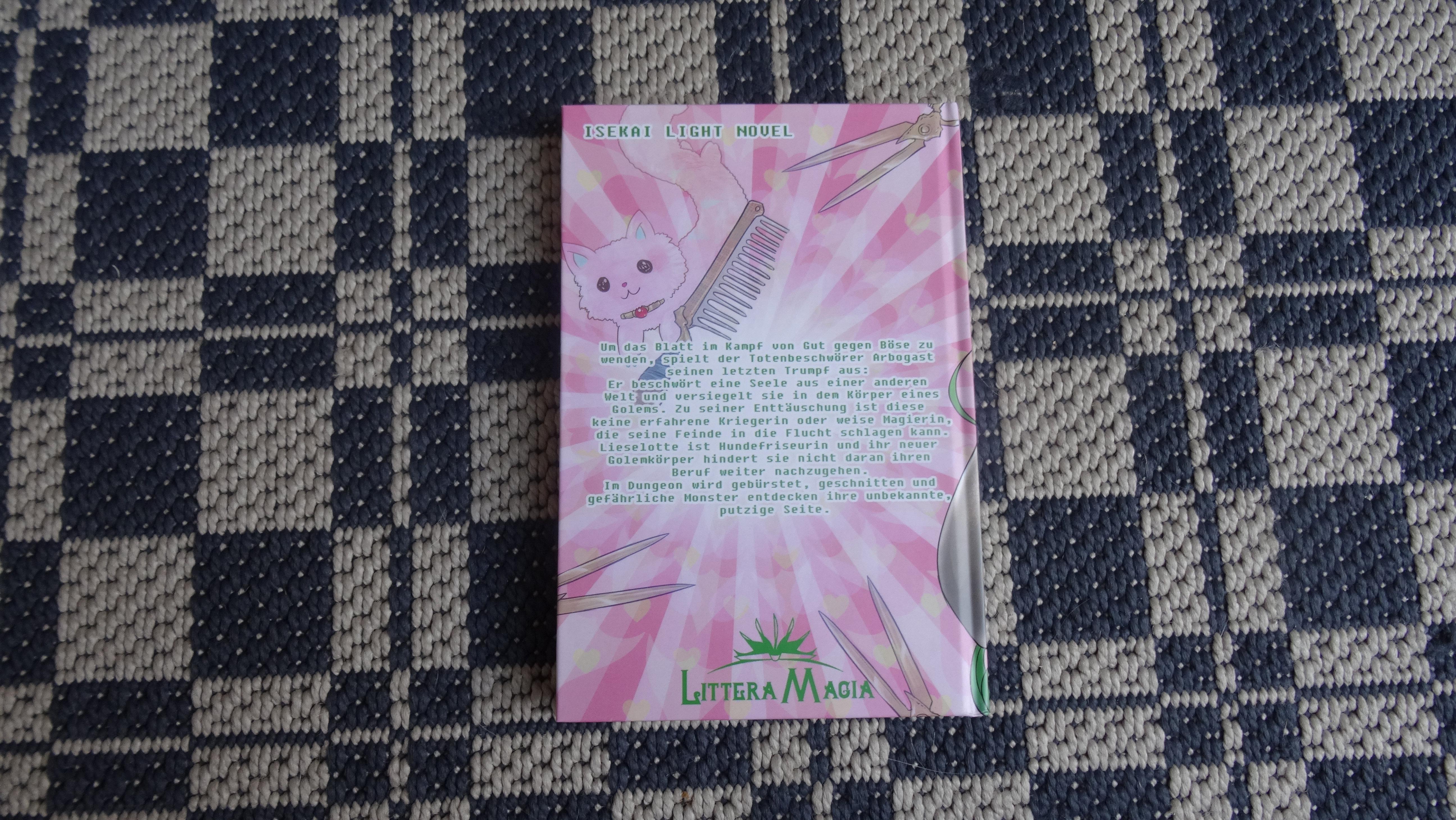 Rückseite Isekai-Light-Novel Girlem: Wiedergeboren als Golem!? Monsterfriseurin in einer anderen Welt!